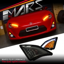 Smoked 3D LED Front Bumper Indicator Turn Signal Marker lights for Toyota 86 GT & GTS 12-16