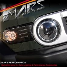 Black LED Corner Turn Signal Indicator Lights For Toyota FJ-Cruiser