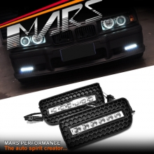 MARS Bumper Bar LED DRL Day-Time Fog Lights Cover for BMW E36