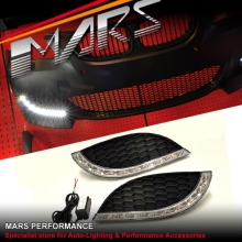 MARS Bumper Bar LED DRL Day-Time Fog Lights Cover for BMW E60 E61 M5 Style Bumpers