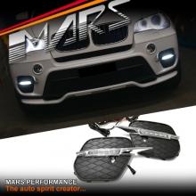 MARS Bumper Bar LED DRL Day-Time Fog Lights Cover for BMW X5 E70 LCI 11-13