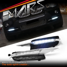 MARS Bumper Bar LED DRL Day-Time Fog Lights Cover for BMW X5 E70 07-10