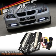 MARS Bumper Bar LED DRL Day-Time Fog Lights for BMW 3-Series E90 E91 05-08