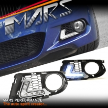 BMW E92 E93 LCI 10-13 M Tech Sports MARS Bumper Bar LED DRL Day-Time Fog Lights Cover Grille