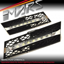 MARS Bumper Bar LED DRL Day-Time Fog Lights Cover for BMW 7-Series F01