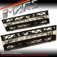 MARS Bumper Bar LED DRL Day-Time Fog Lights Cover for BMW 5-Series F10 F11