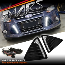 MARS Bumper Bar LED DRL Day-Time  covers for Ford Focus LW 12-15 HatchBack