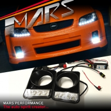 MARS Bumper Bar LED DRL Day-Time Fog Lights Cover for Holden Commodore VE Series 1 SS SV6 SSV