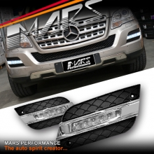 MARS Bumper Bar LED DRL Day-Time Fog Lights Cover for Mercedes-Benz ML W164 09-11