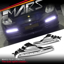 DRL Day-Time Running LED Bumper Bar Fog Lights for Porsche Boxster 987 05-08