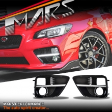 Gloss Black Bumper Bar Indicator & Fog lights Cover with DRL for Subaru WRX & STI 14+