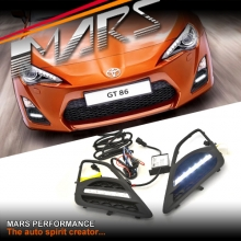 MARS Bumper Bar LED DRL Day-Time Fog Lights Cover for Toyota 86 GT GTS 12-16
