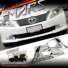 MARS Bumper Bar LED DRL Day-Time Fog Light covers for Toyota Aurion 12-17 GSV50R