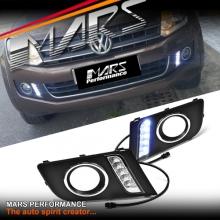 MARS Bumper Bar LED DRL Day-Time Fog Lights Cover for Volkswagen VW Amarok 2H 11-17