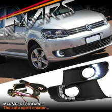 MARS Bumper Bar LED DRL Day-Time Fog Light covers for VolksWagen VW Caddy 11-14
