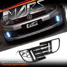 MARS Bumper Bar LED DRL Day-Time Fog Lights Cover for Volkswagen VW Golf VI 6 GTi