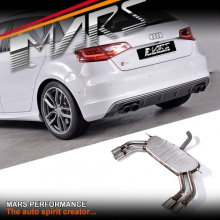 Mars Performance S3 Style Twin Outlet muffler Exhaust for AUDI A3 8V Hatch 1.4T