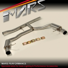 MARS Dual Outlet Twin Muffler Exhaust System for AUDI A4 B8 & A5 TDI Diesel