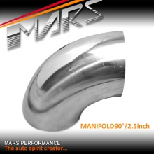 MARS 2.5 inch 90 Degrees Mandrel Bend polished stainless steel Manifold pipe for Cat-Back Exhaust & Muffler Parts