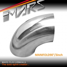 MARS 3 inch 90 Degrees Mandrel Bend polished stainless steel Manifold pipe for Cat-Back Exhaust & Muffler Parts