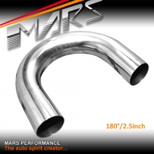 MARS 2.5 inch 180 Degrees Mandrel Bend polished stainless steel pipe for Cat-Back Exhaust & Muffler Parts
