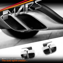 Square TURBO Style Twin Outlet Exhaust Muffler Tips for Porsche Macan 95B
