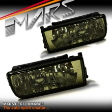 Smoked Black M3 Style Fog Lamps for BMW 3 Series E36 Sedan & Coupe