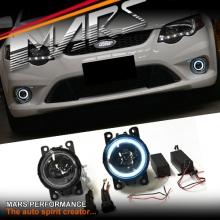 MARS CCFL Angel Eyes Projector Bumper Bar Driving Fog Lights for Ford Falcon FG BF