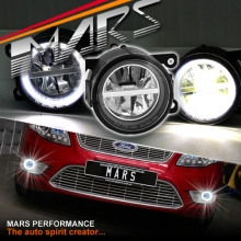 MARS High Power LED Angel Eyes Bumper Bar Driving Fog Lights for Ford Falcon FG BF