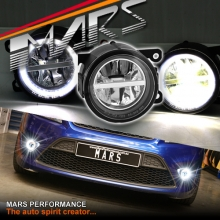 MARS High Power LED Angel Eyes Bumper Bar Driving Fog Lights for Ford Fiesta & Focus