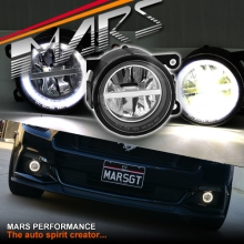 MARS High Power LED Angel Eyes Bumper Bar Driving Fog Lights for Ford Mustang FM 15-17