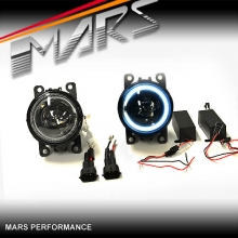 MARS CCFL Angel Eyes Projector Bumper Bar Driving Fog Lights for Mitsubishi Pajero & ASX