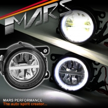 MARS High Power LED Angel Eyes Bumper Bar Driving Fog Lights for Mitsubishi Triton 09+