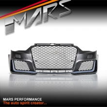RS3 Style Front Bumper Bar with HONEYCOMB Grille for AUDI A3 S3 8V 13-16, Pre Update