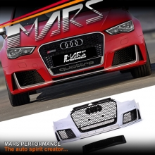 RS3 Style Front Bumper Bar with QUATTRO Grille for AUDI A3 8V 13-16, Pre Update