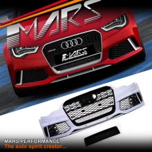 RS6 Style Front Bumper Bar with QUATTRO Grille for AUDI A6 S6 C7 11-14, Pre Update / Pre Facelift