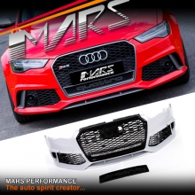 RS6 Style Front Bumper Bar with QUATTRO Grille for AUDI A6 S6 C7 15-17, Update Facelift