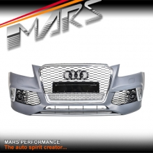 RS-Q5 Style Front Bumper Bar with Chrome Black Honeycomb Grille for AUDI Q5 8R 13-16