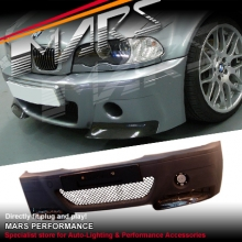 M3 CSL Style Front Bumper Bar for BMW E46 4D Sedan & Wagon