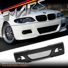 M3 style Front Bumper Bar for BMW E46 4D Sedan & Wagon