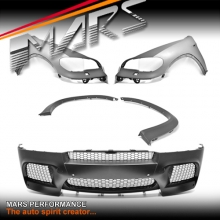 X5M style Front Bumper Bar with Fender Guards & Wheel Archs for BMW E70 X5 07-10