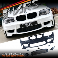 1M Style Front Bumper Bar for BMW E81 E82 E87 E88 Coupe Hatch Convertible