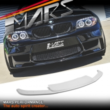 FRP Fiber Glass Lip Spoiler for BMW 1-Series E81 E82 E87 E88 1M Style Front Bumper Bar