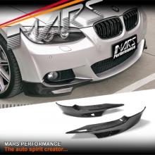 Performance Style Front Bumper Bar Carbon Fiber Splitter for BMW E92 E93 M Tech 06-09 Pre LCI