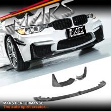 BMW M Performance Style Carbon Fibre Front lip & Splitters for MARS M3 M4 aftermarket F30 F32 F33 E92 Bumper bar
