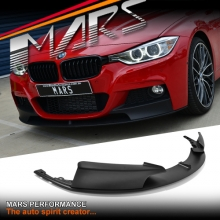 Matt Black Performance style front bumper bar ABS Plastic Lip for BMW F30 F31 M Tech M Sport