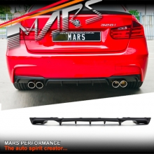 BMW Performance style Rear bumper bar Twin Exhaust outlet Diffuser for BMW F30 M Tech M Sports