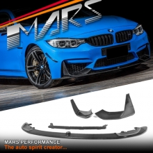 M Performance Style Carbon Fibre Front Bumper Bar lip & Splitters for BMW F80 M3 & F82 F83 M4