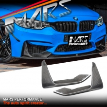 M Performance Style Carbon Fibre Front Bumper Bar Splitter Covers for BMW F80 M3 & F82 F83 M4