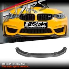PSM Style Carbon Fibre Front Bumper Bar lip Spoiler for BMW F80 M3 & F82 F83 M4